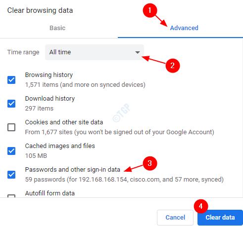 Borrar datos de Chrome