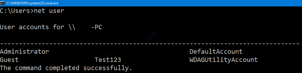 Lista de usuarios Cmd
