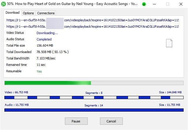 Descarga de vídeo de Neat Download Manager