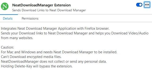 Integración del navegador Neat Download Manager