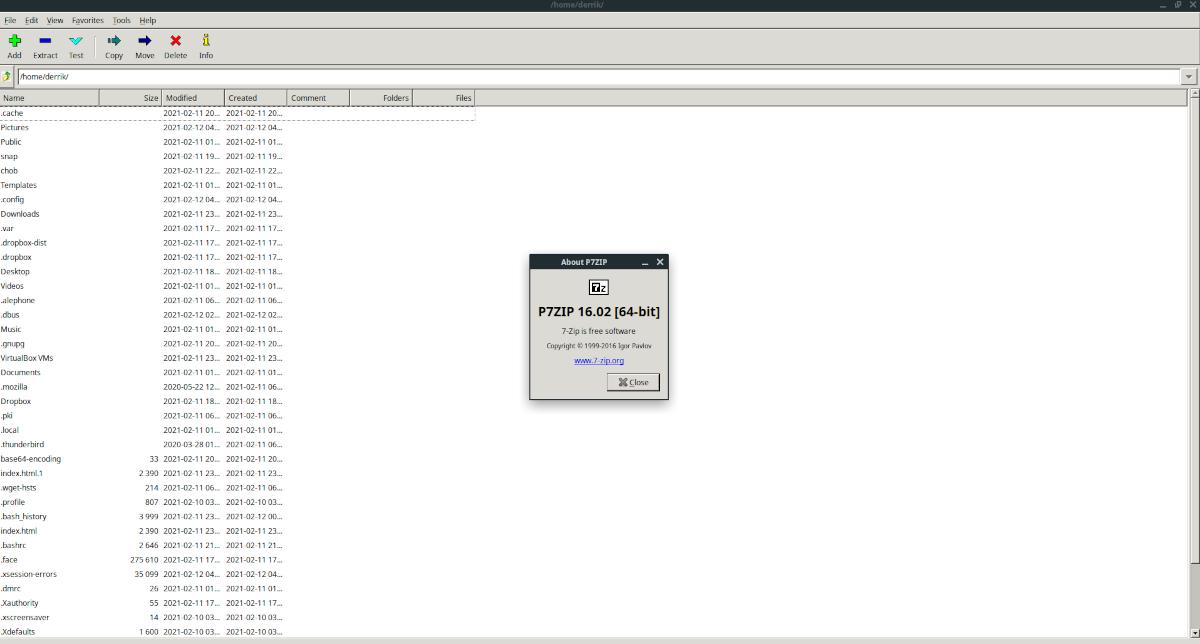 7zip instalación de Linux