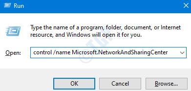 Ejecute el comando para abrir la red y compartir