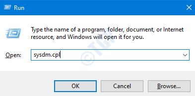 Sysdm Cpl en ejecución
