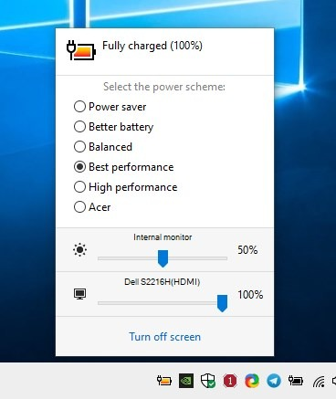 Switch power schemes with a hotkey, control the monitor