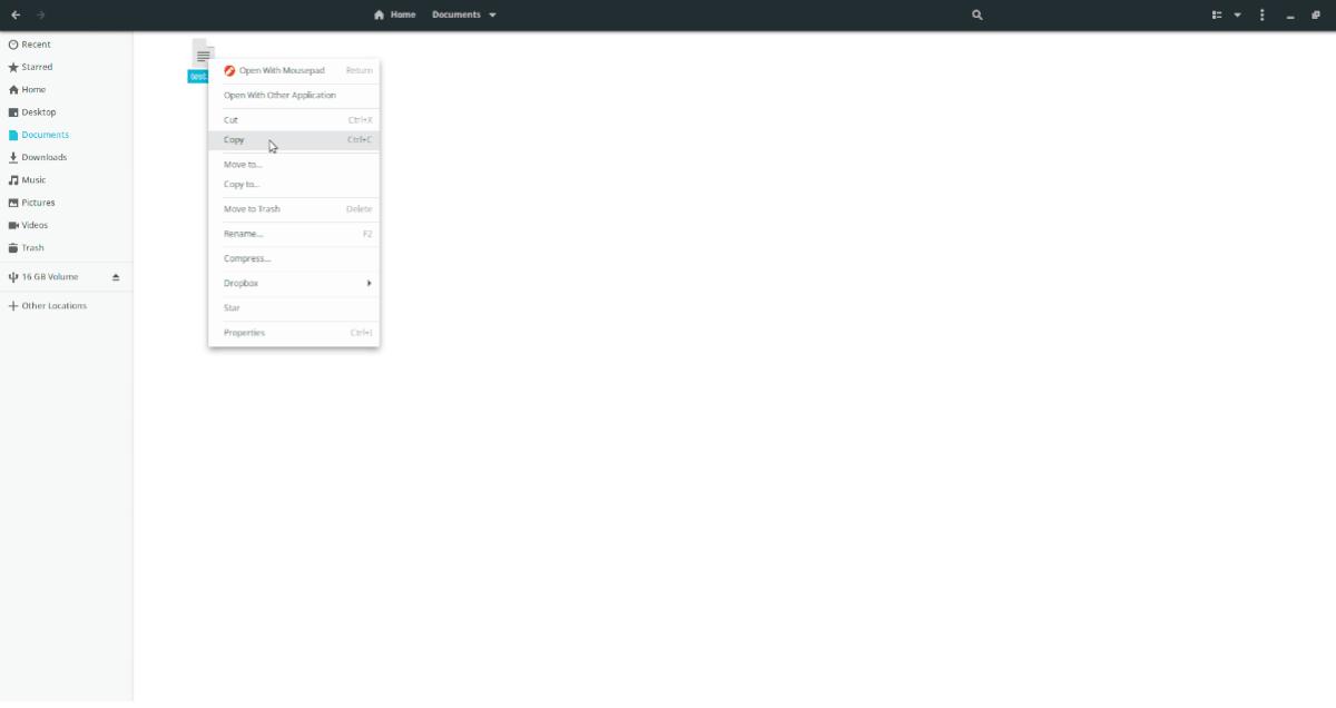 Copie el archivo de un directorio a otro en Ubuntu Linux