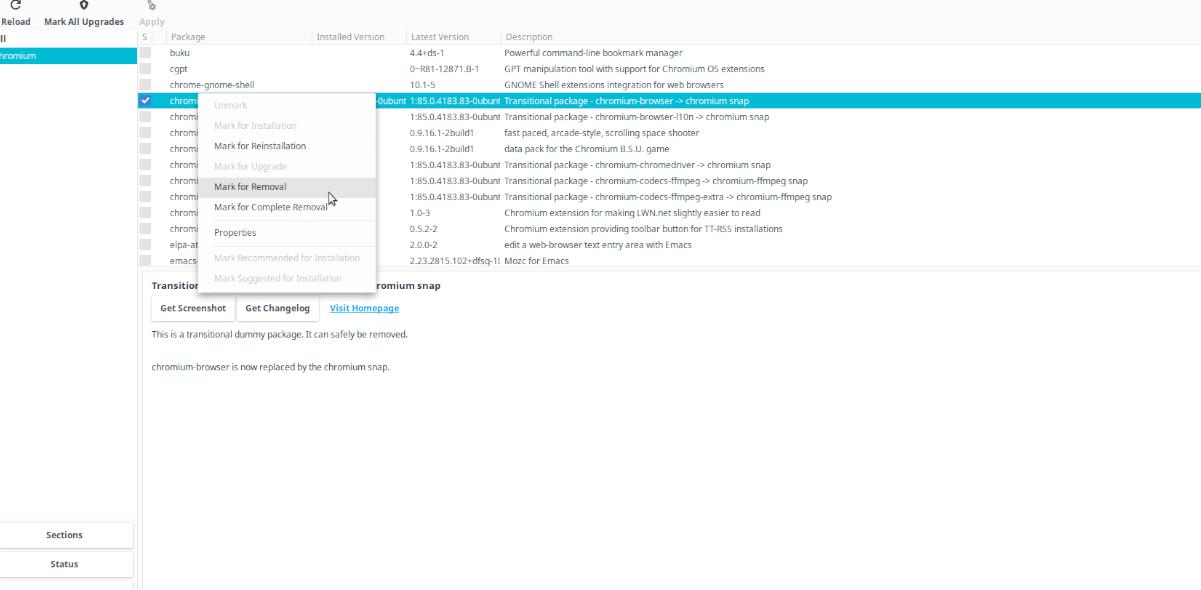 Debian: desinstalar paquete