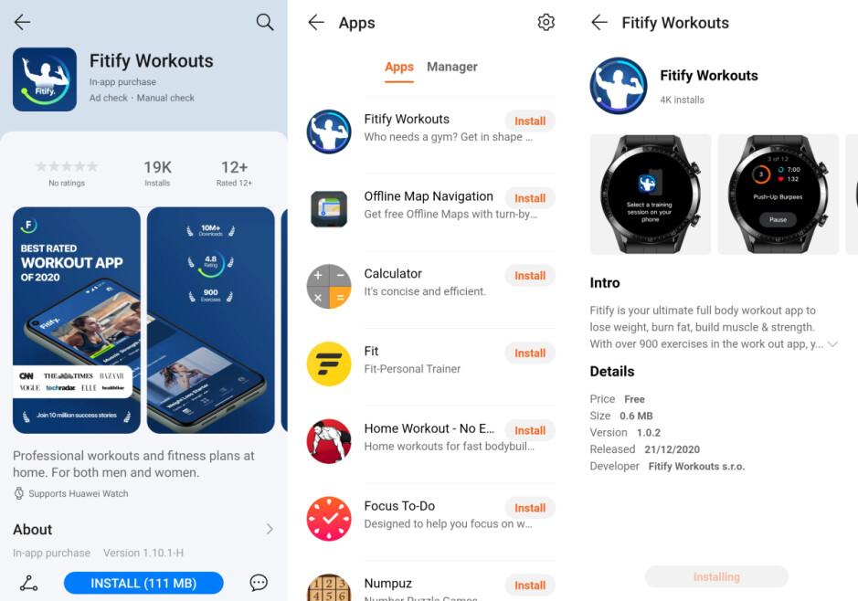 Fitify es la primera aplicación de terceros para relojes inteligentes Huawei