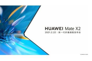 Huawei Mate X2 se lanzará el 22 de febrero con una pantalla plegable hacia adentro