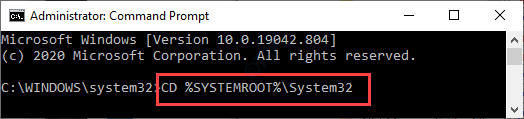 Cd SystemRoot System 32 Min