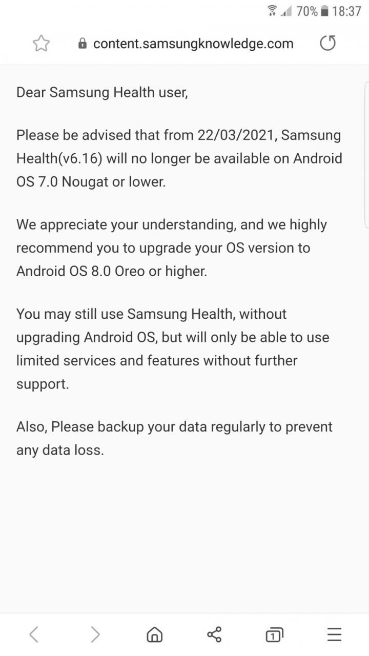 La aplicación Health de Samsung ya no será compatible con los teléfonos inteligentes Galaxy más antiguos