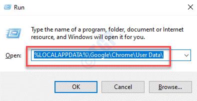 Ejecutar comando Pegar comando para eliminar el perfil de usuario de Chrome Ingresar