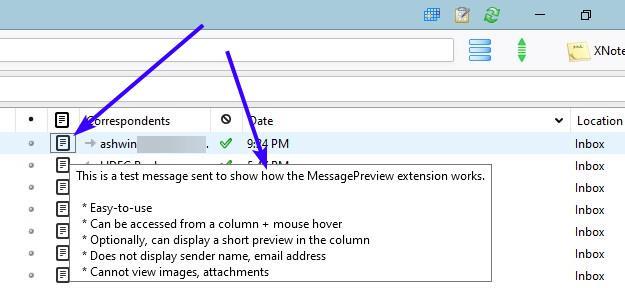Vea el contenido de un correo rápidamente sin hacer clic en él con la extensión MessagePreview para Thunderbird