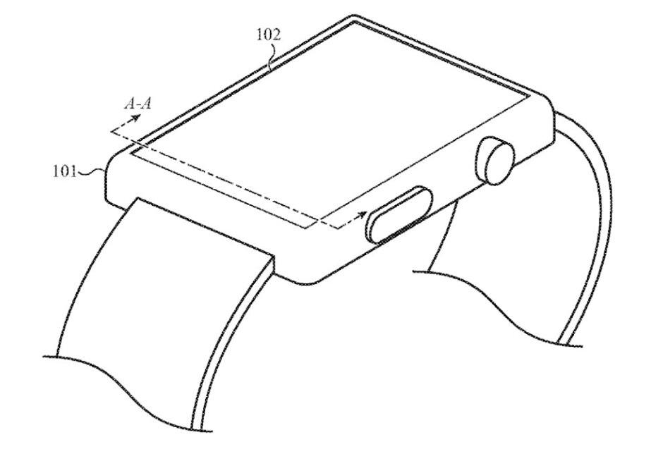 Ilustración de la nueva solicitud de patente de Apple para el Apple Watch: Apple tiene un plan inteligente para reducir el tamaño del Apple Watch mientras aumenta la capacidad de la batería