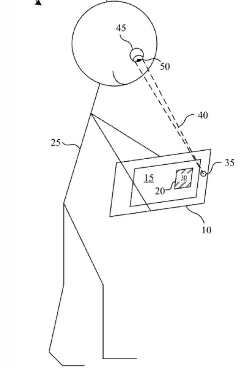 Ilustración de la solicitud de patente de Apple: los ojos de los usuarios de Apple Glass pueden determinar qué tan comprometidos están con el contenido que están viendo