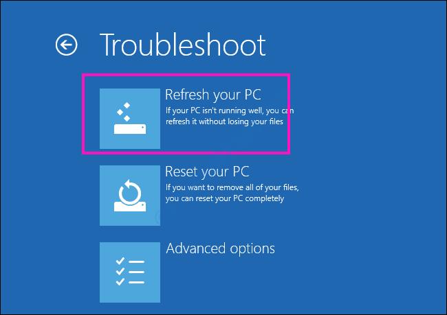 Actualizar Reparar la unidad donde está instalado Windows está bloqueada Error de Windows 10