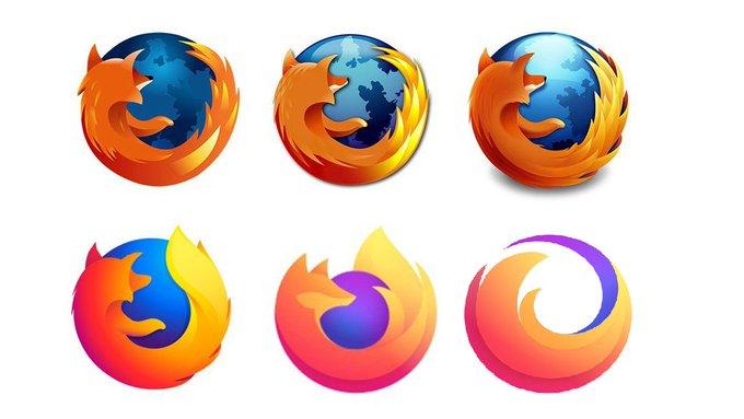 Logotipo de firefox falso