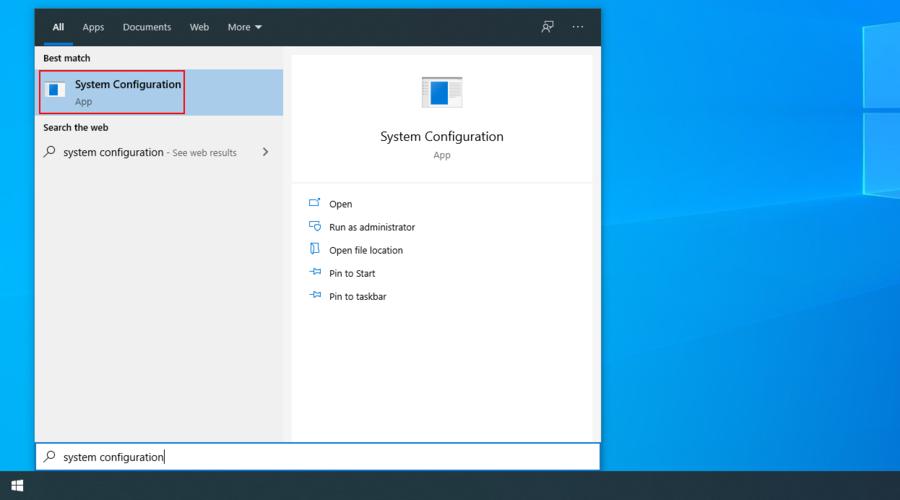 Windows 10 muestra cómo acceder a la aplicación Configuración del sistema desde el menú de búsqueda