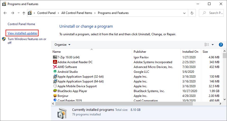 Windows 10 muestra cómo ver las actualizaciones de Windows instaladas