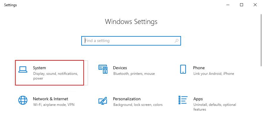 Windows 10 muestra cómo acceder a la configuración del sistema