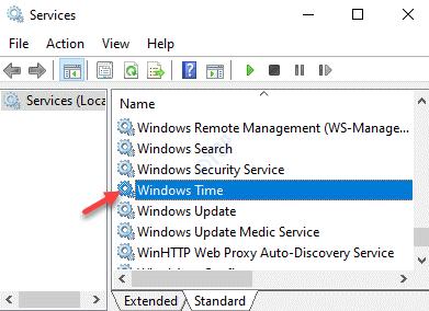 Servicios Windows Time Doble clic