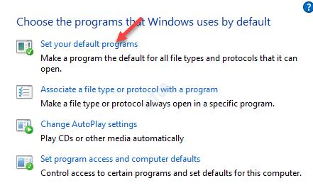 Programas predeterminados Elija el programa que Windows usa de forma predeterminada Establecer como predeterminado