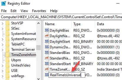 Dword (32 bits) Valor Cambiar nombre Realtimeisuniversal