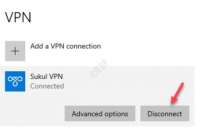 Vpn Seleccione Desconexión activa de Vpn
