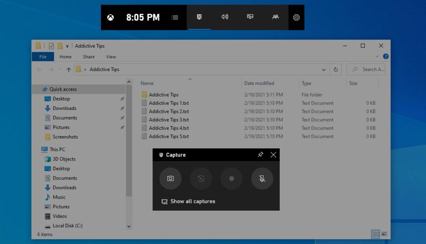 Windows 10 muestra la barra de juegos de Xbox