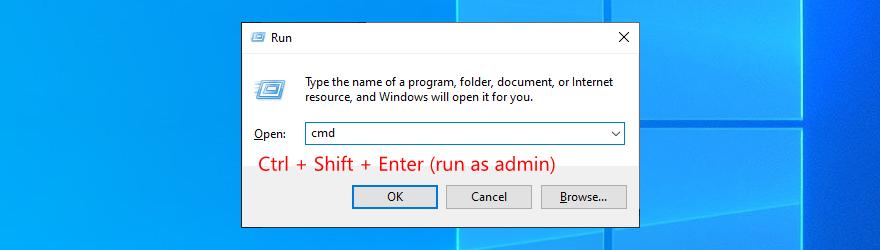 Windows 10 muestra cómo ejecutar el símbolo del sistema como administrador