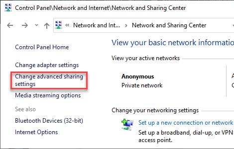 Cambiar mínimo de uso compartido avanzado