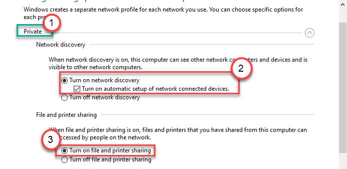 Activar descubrimiento de red mínimo