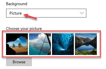 Imagen de fondo de la pantalla de bloqueo Elija su imagen Seleccione entre las imágenes integradas