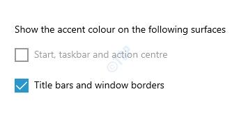 Muestre el color de acento en las siguientes superficies, barras de título y bordes de ventanas
