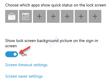 Fondo de pantalla de bloqueo Seleccione una opción Mostrar imagen de fondo de la pantalla de bloqueo en la pantalla de inicio de sesión Habilitar