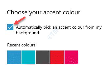 Elija su color de acento Elija automáticamente un color de acento de mi fondo