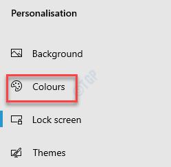 Configuración Personalización Colores