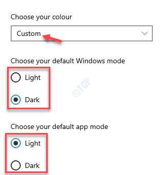 Elija su color personalizado Elija su modo predeterminado de Windows Elija su modo de aplicación predeterminado Claro u oscuro