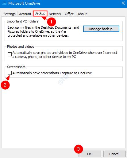 Desmarcar copia de seguridad