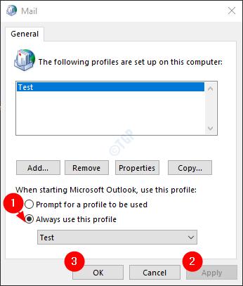 Seleccionar un perfil