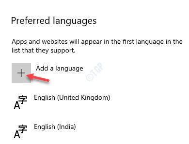 Idiomas preferidos Agregar un idioma