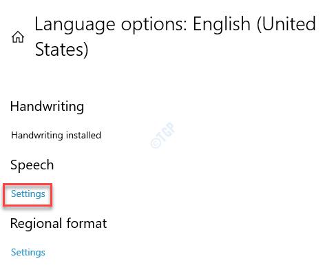 Opciones de idioma Configuración de voz