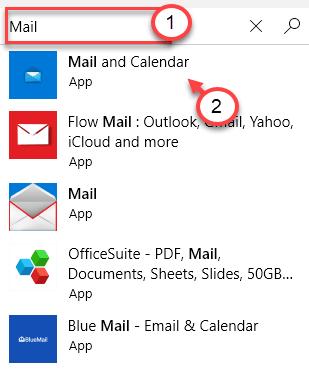 Mínimo de búsqueda de correo
