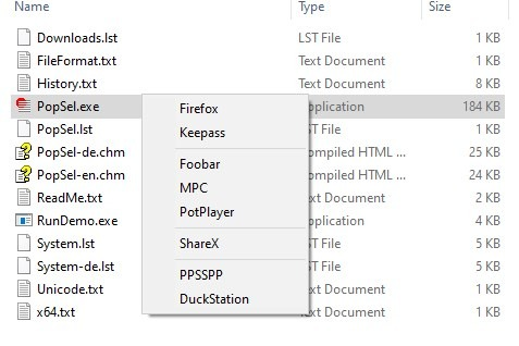 Cree un menú personalizado, agregue accesos directos a archivos, carpetas, URL y acceda a él desde un acceso directo en el escritorio con PopSel