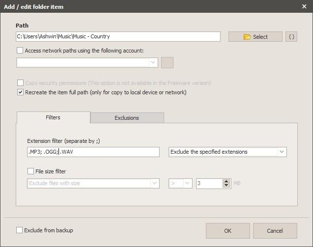 Nueva tarea de Iperius Backup - agregar carpetas