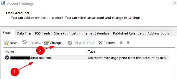 Cambiar e-mail