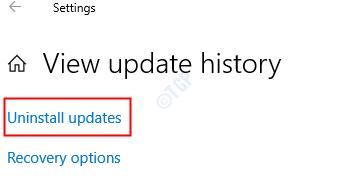 Desinstalar actualizaciones