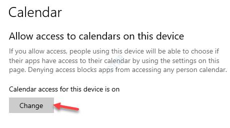 Permitir el acceso a los calendarios en este cambio de dispositivo