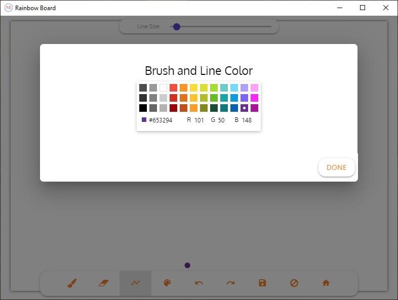 Paleta de colores Rainbow Board