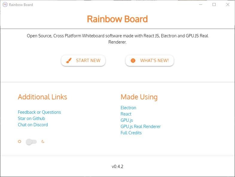 Rainbow Board es una aplicación de pizarra de código abierto