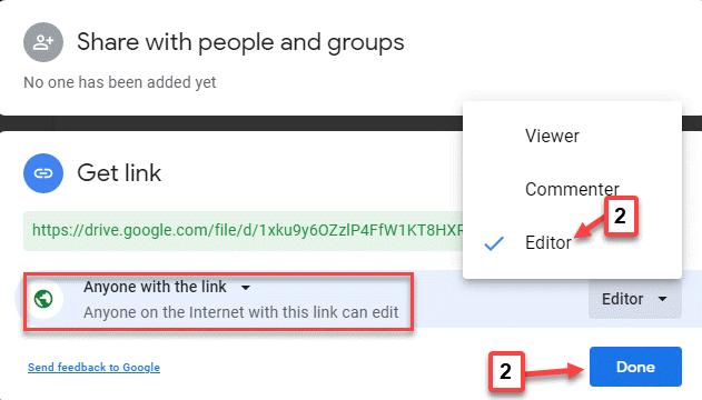 Compartir con personas y grupos Cualquiera en Internet con este enlace puede editar el editor listo